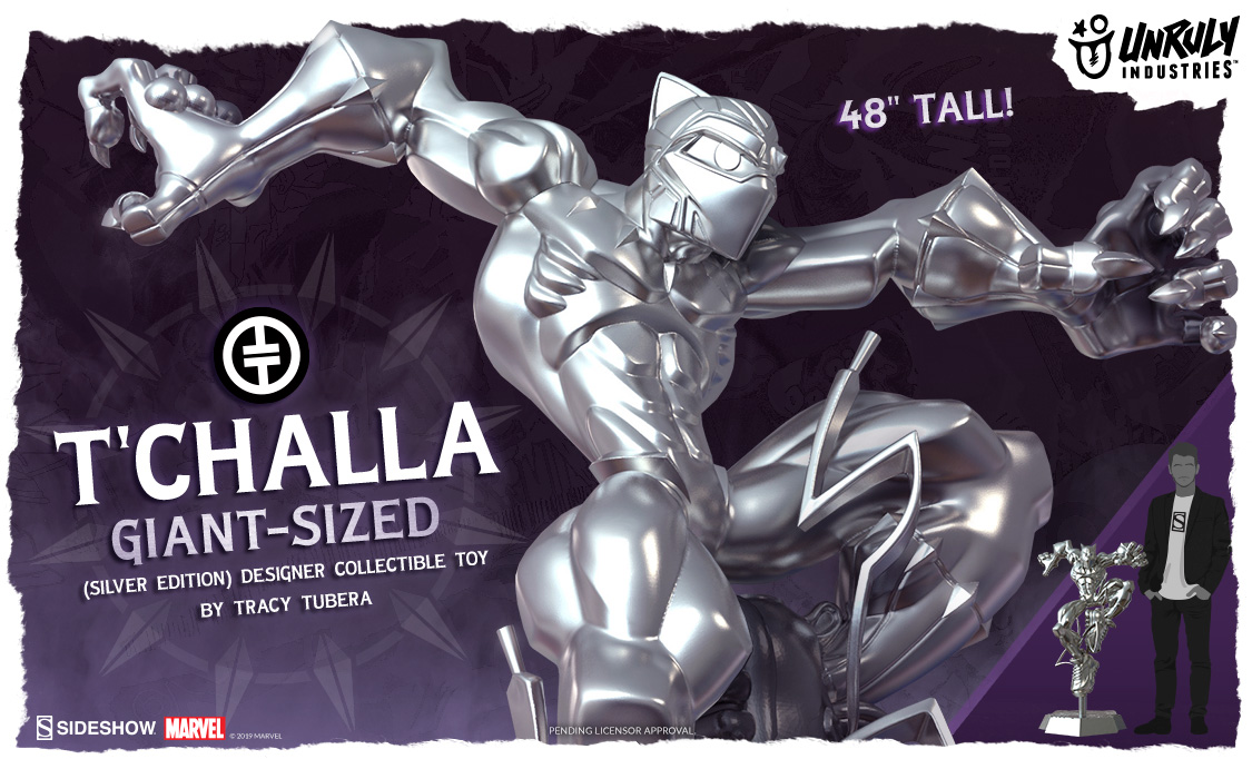 T'Challa Giant-Sized (Silver Edition) Designer Toy