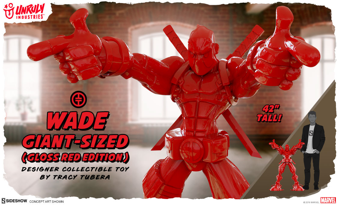 Wade Giant-Sized (Gloss Red Edition) Designer Toy