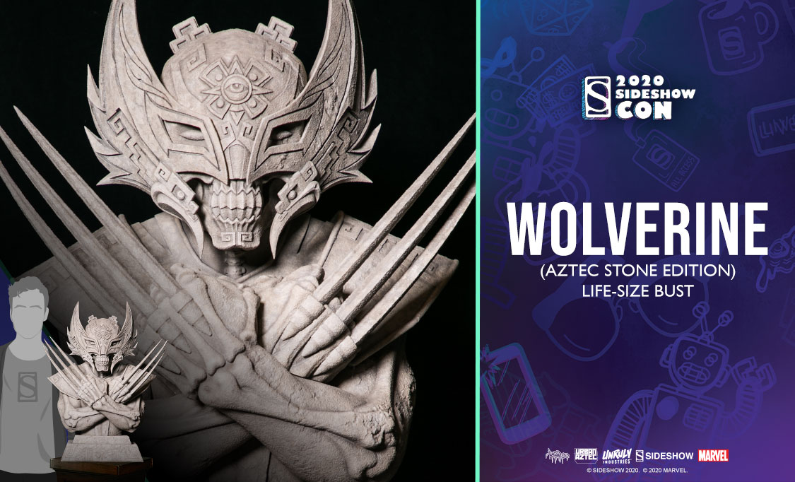 Wolverine (Aztec Stone Edition) Life-Size Bust
